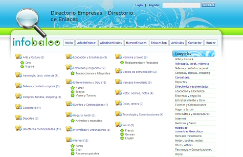 Directorio de enlaces Infobaloo